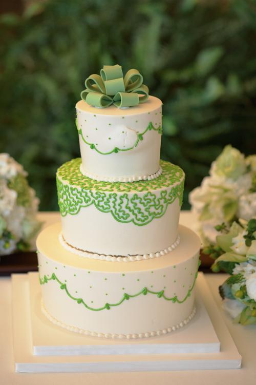 Green & White Cake