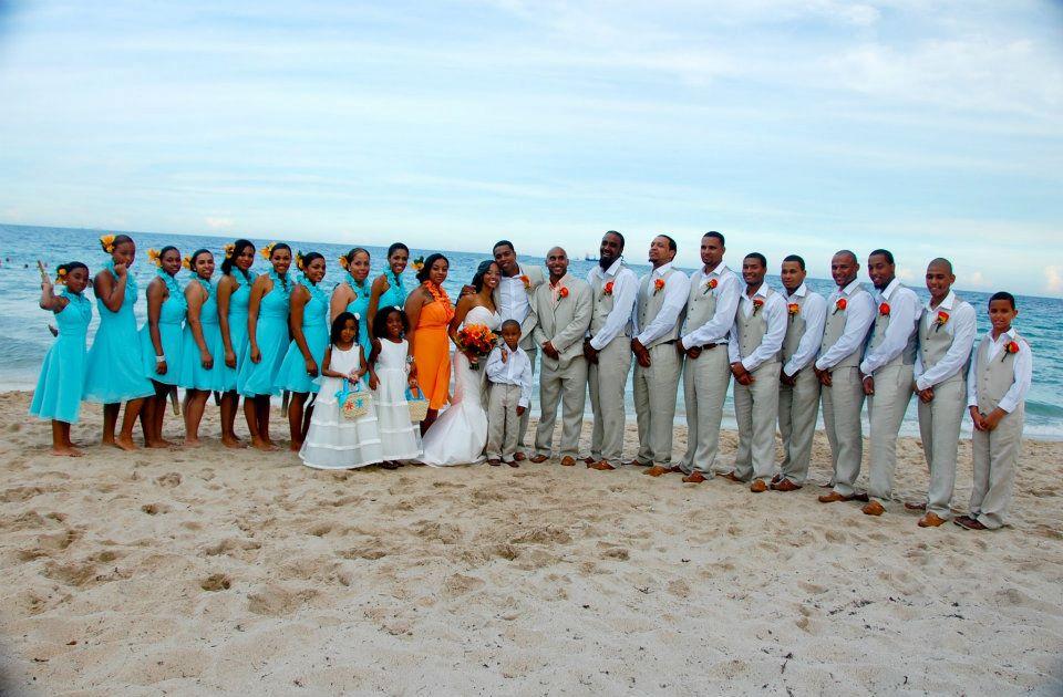 Teal & Orange Beach Wedding