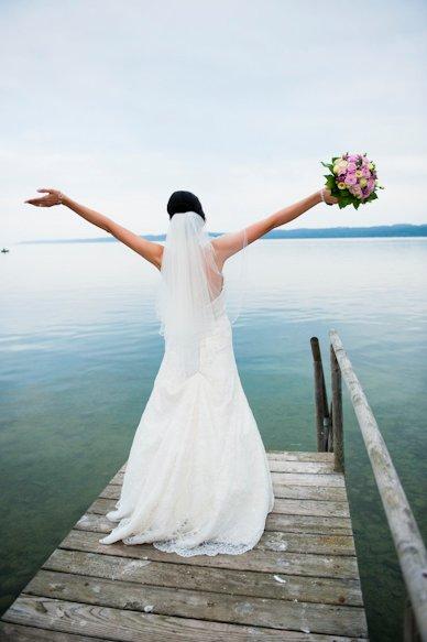 Bride on Pier