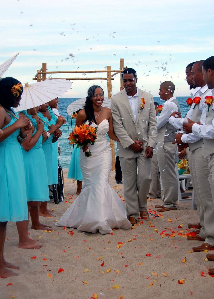 Ft.Lauderdale Wedding Teal and Tangerine