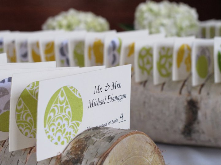 Placecard Displays Limes and Greens