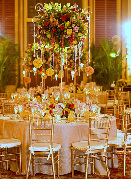 Table Display Beaded and Round