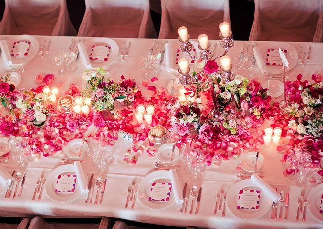 Table Display Hot Pink