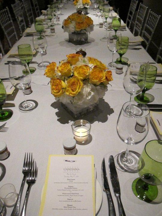 Table Display Yellow Rectangular