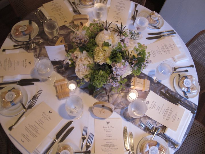 Table Place Setting White Round