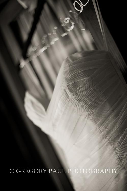 Black & White Shot of Bride Gown | Miami Tower Wedding